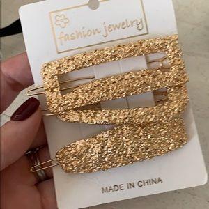 Gold barrettes